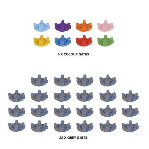 Cthulhu Wars : Eldritch Pack de Portails Plastiques (7 De Couleur et 22 Gris)