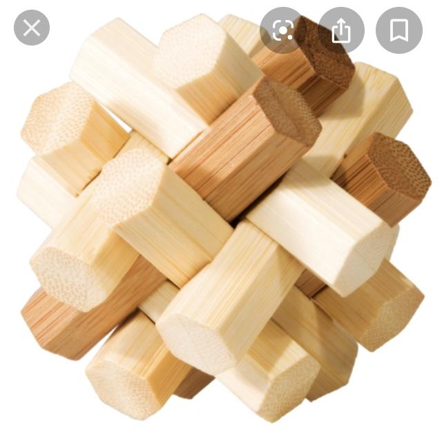 Bamboo puzzle - IQ-test