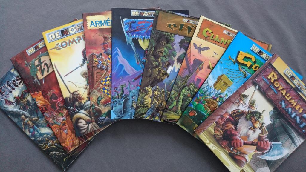 Collection complète livres d'armée Demonworld 1ere édition fr