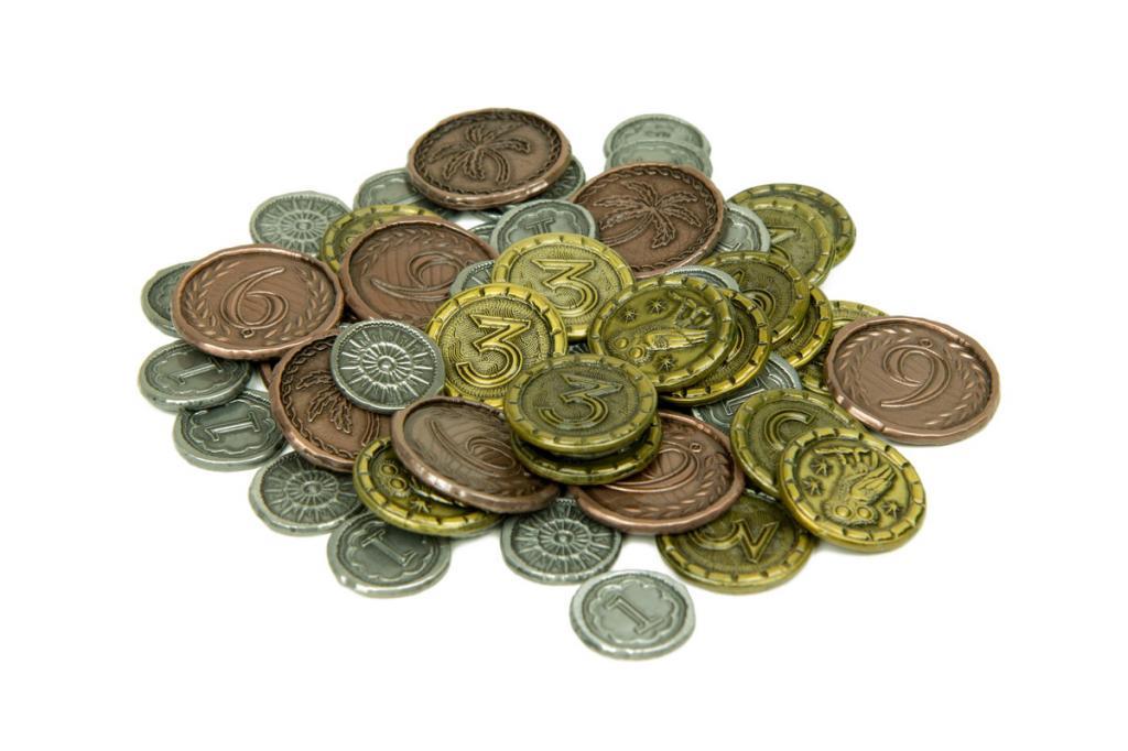 7 Wonders Wondrous Metal Coins - Pièces Metal version Broken Token