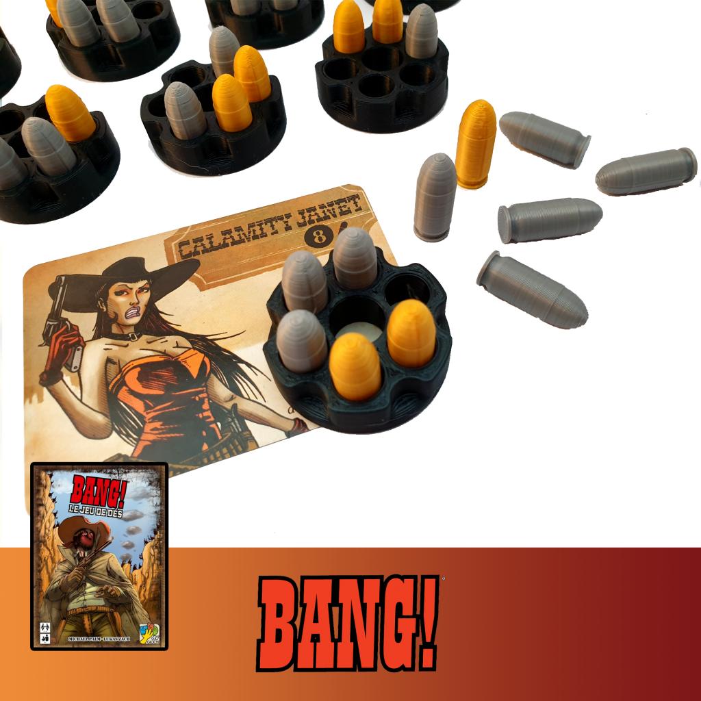 Bang! Le jeu de dés - jetons Balles imprimés en 3D