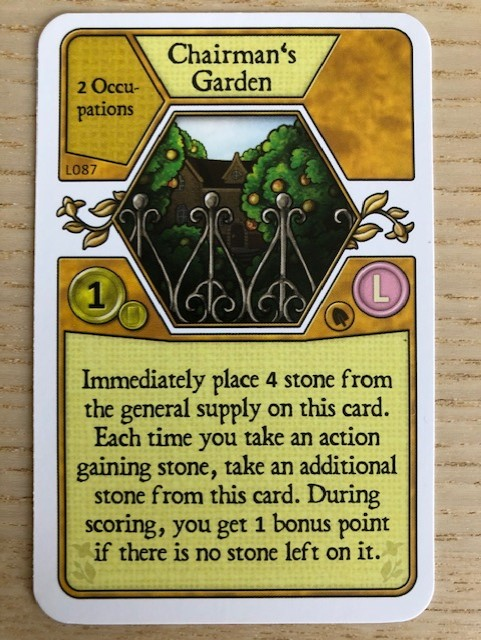 Agricola - Promo L-deck Chairman's Garden Card (L087)