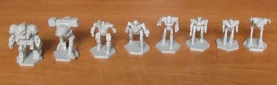 Battletech - Plastech Miniatures - 2 X 8 Figurines