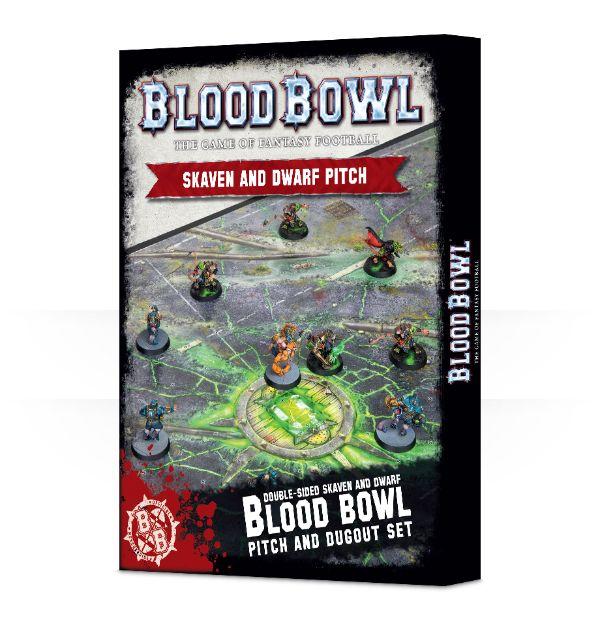Blood Bowl 2016 - Skaven And Dwarf Pitch & Dugout Set