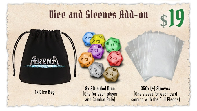 Arena: The Contest - Dice & Bag & Sleeves