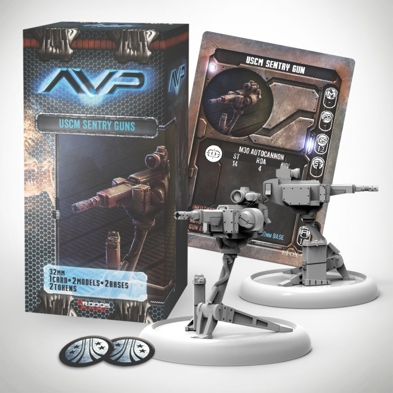 Avp The Hunt Begins 2nd Edition - Uscm Sentry Guns