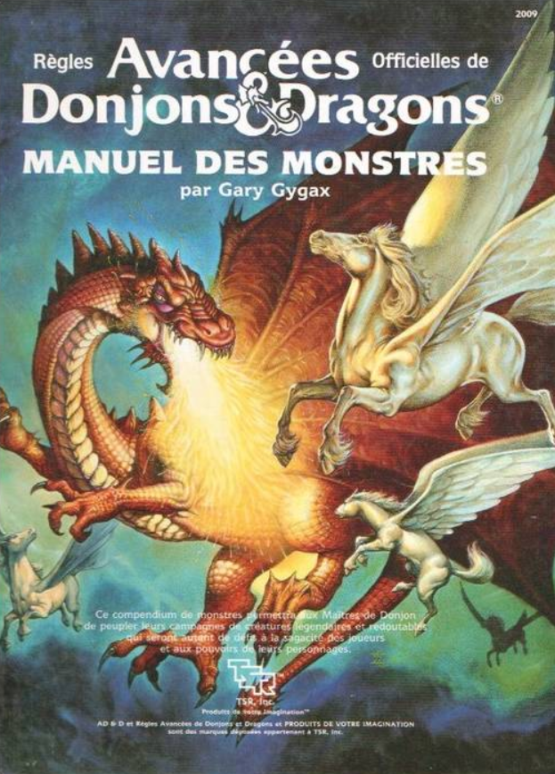 Advanced Dungeons & Dragons - 1ère Edition Vf - Manuel Des Monstres