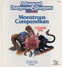 Advanced Dungeons & Dragons - 2nd Edition - Montrous Compendium - Volume One