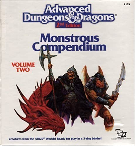 Advanced Dungeons & Dragons - 2nd Edition - Montrous Compendium - Volume Two