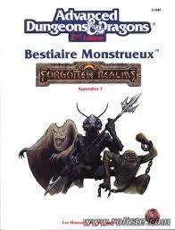 Advanced Dungeons & Dragons - 2ème Edition Vf - Les Royaumes Oubliés - Bestaire Monstrueux - Appendice 1