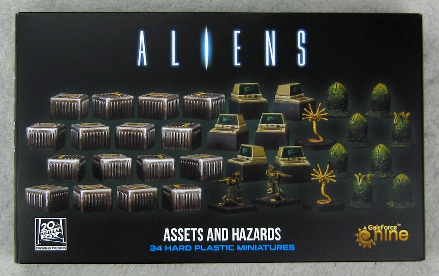 Aliens: Another Glorious Day In The Corps - Assets And Hazards (3d Gaming Set)