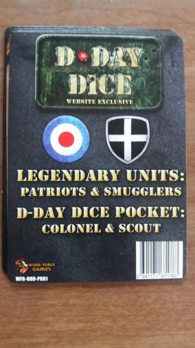 D-day Dice - Legendary Units : Patriots & Smugglers