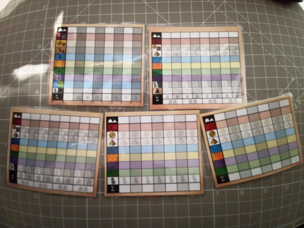 7 Wonders - Blocs De Scores Recto Verso Plastifiés (5 Versions)