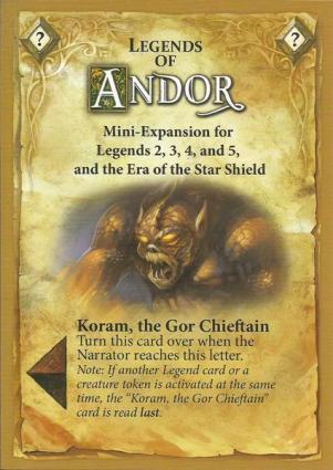 Andor - Koram The Gor Chieftain