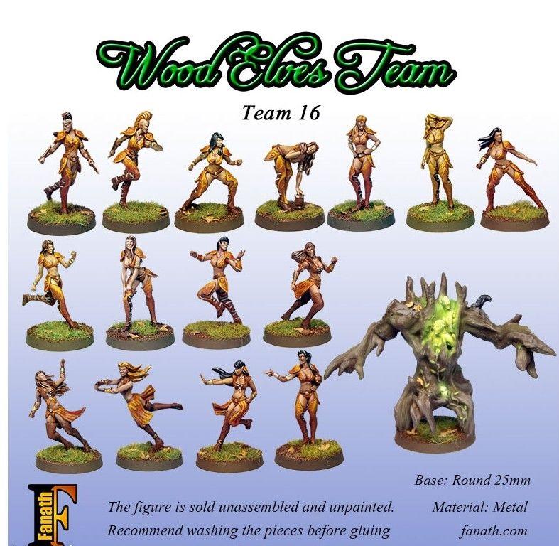 Blood Bowl - Figurines - Fanath : Wood Elves Team (16 Players)