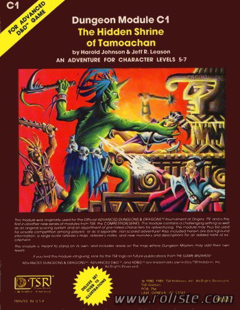 Advanced Dungeons & Dragons - 2ème Edition Vf - Module C1 - The Hidden Shrine Of Tamoachan
