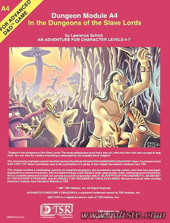 Advanced Dungeons & Dragons - 1ère Edition Vf - Module A4 - In The Dungeons Of The Slave Lords