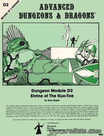 Advanced Dungeons & Dragons - 1st Edition - Module D2 - Shrine Of The Kuo-toa