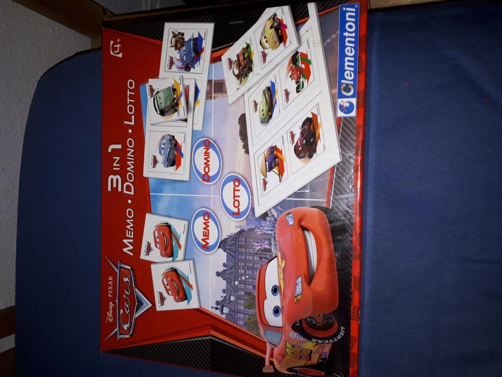Cars 3 En 1 Lotto Domino Mémo