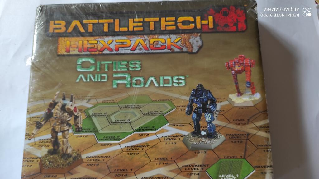 Battletech 25th Anniversary Introductory Box Set - Hexapack  Cities And Roads