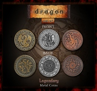 Image de Legendary Metal Coins for Gaming - Dragons