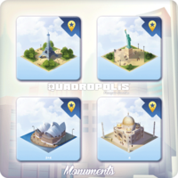 Image de Quadropolis : Tuiles Monuments du Monde