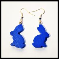 Image de boucles d'oreilles meeples lapins bleus
