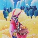 "Image de Dixit - carte promo ""lapin rose"""