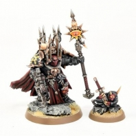 Image de sorcerer lord armure terminator space marine chaos + familier