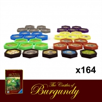 Image de Les châteaux de Bourgogne - 164 Jetons Type Poker