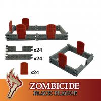 Image de Zombicide Black Plague Green Horde Portes et Murs